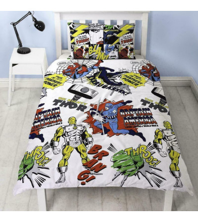 Official Marvel Comics Scribble Reversible Duvet Set - Single