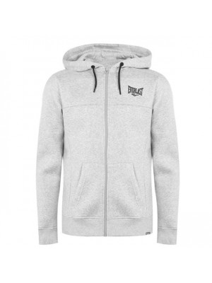 Zip Hoody Mens Grey Marl Large