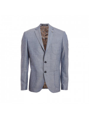 Patch Pocket Blazer in Grey and Navy