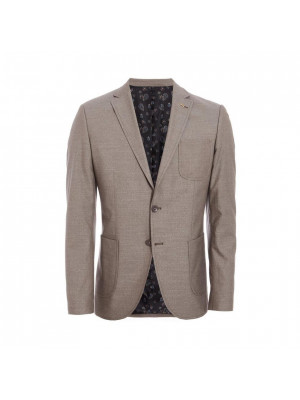 Patch Pocket Blazer in Stone