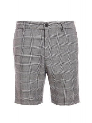 Prince of Wales Check Shorts with Taping