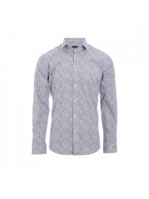 Long Sleeve Shirt In Grey Floral Print