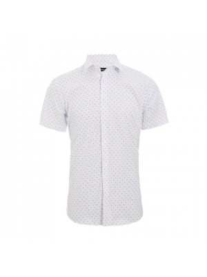 Short Sleeve Geometric Print Shirt