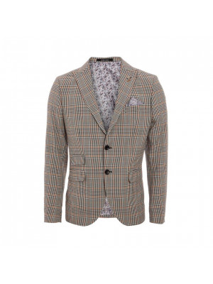 All Over Dog-tooth Check Blazer
