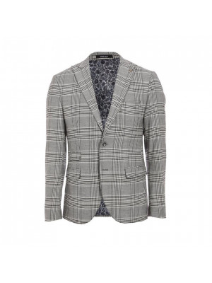 Regular Fit Grey Check Blazer