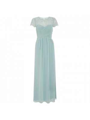 Sage Lace Sweetheart Maxi Dress