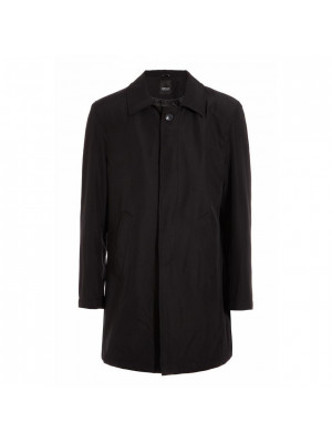 Single Breasted Trench In Black
