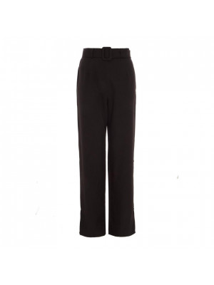 Black Belted High Waist Palazzo Trousers