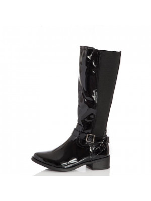 Black Patent Riding Boot