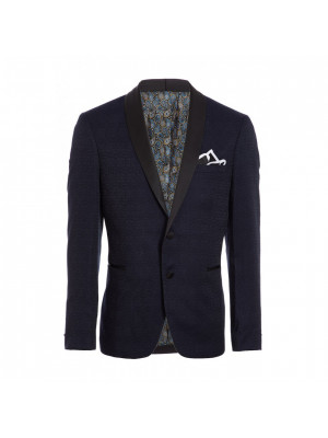 Navy All Over Embroidered Blazer