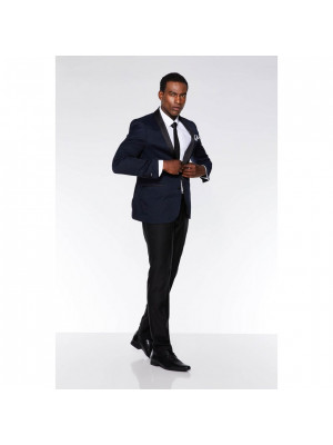 Black Plain Suit Trousers