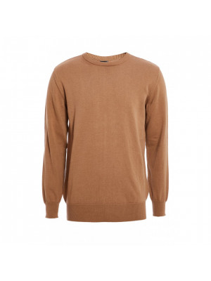 Camel Roll Neck Knitted Jumper