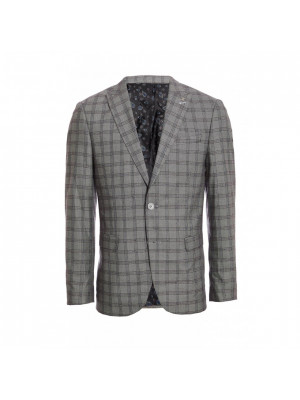 Grey End Check Blazer