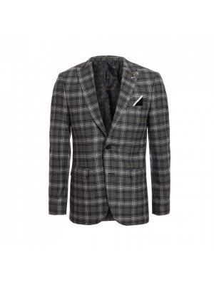 Black / White Check Pattern Blazer