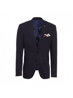 Navy Cotton Blend Blazer