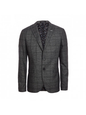 Grey & Blue Check Blazer