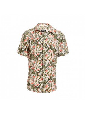 Short Sleeve Revere Collar Floral Shirt
