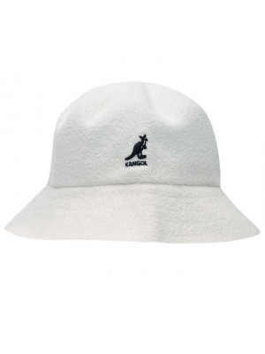 Kangol Boucle Bucket Hat - WhiteMale