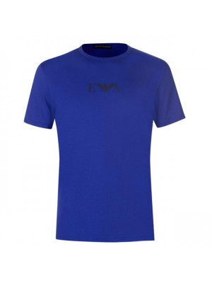 Emporio Armani Mens Chest Logo T-Shirt - Mazarine Blue