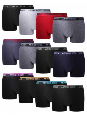 Antonio Rossi Mens 12 Pack Hipster Dark Assorted Boxers