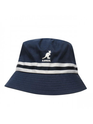 Kangol Stripe Bucket Hat - Navy