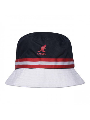 Kangol Stripe Bucket Hat - Navy/Red