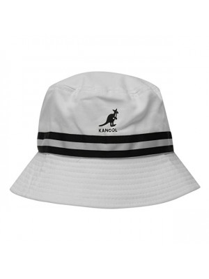 Kangol Stripe Bucket Hat - White