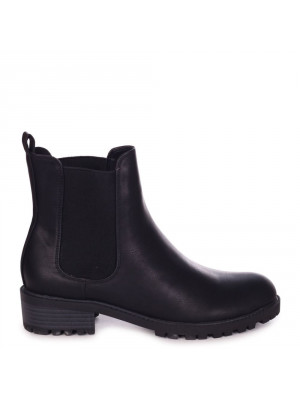 ACE - Black Matte Nappa Classic Chelsea Boot With Elasticated Gusset