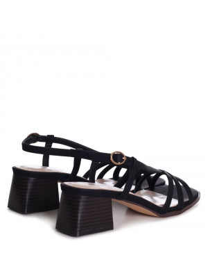 BILLIE - Tan Studded Gladiator Sandal With Embellished Sole