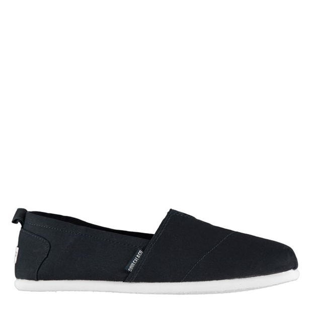 Long Beach Mens Canvas Slip Ons Navy 10