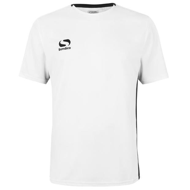 Fundamental Polyester Football Top Mens White Black Extra Lge