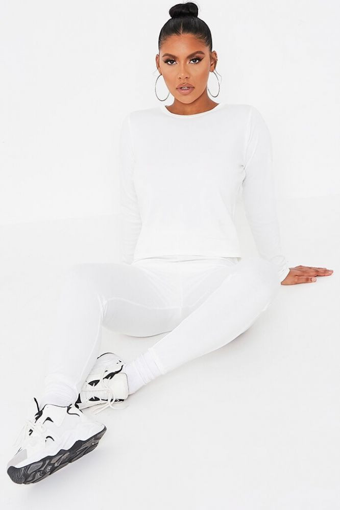 I Saw it First - Ecru Long Sleeve Top And Jogger Set